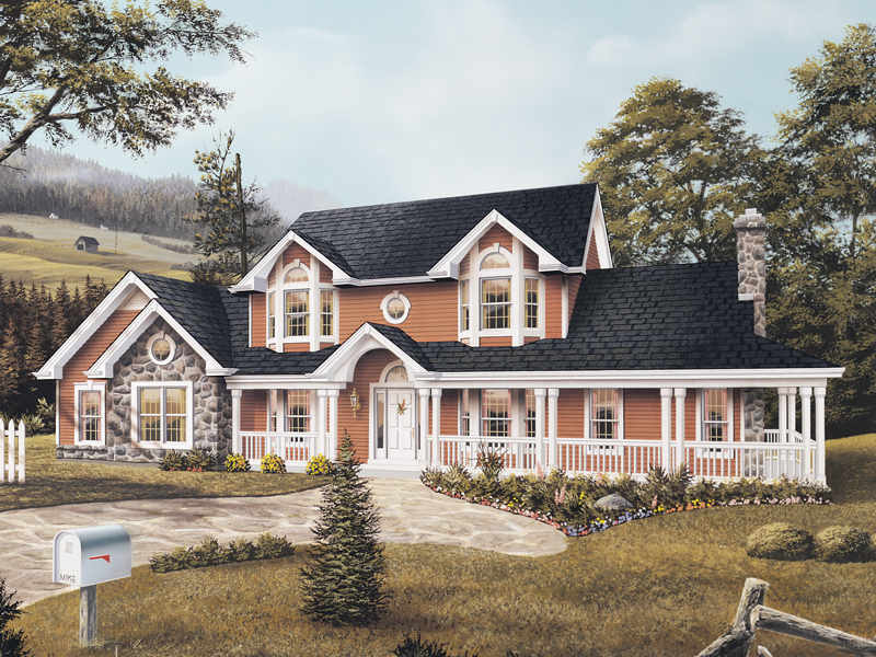 Country House Plan Front Image - 007D-0015 | House Plans and More