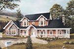 Farmhouse Plan Front Image - 007D-0015 | House Plans and More