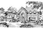 Greek Revival House Plan Front Image of House - 007D-0016 | House Plans and More