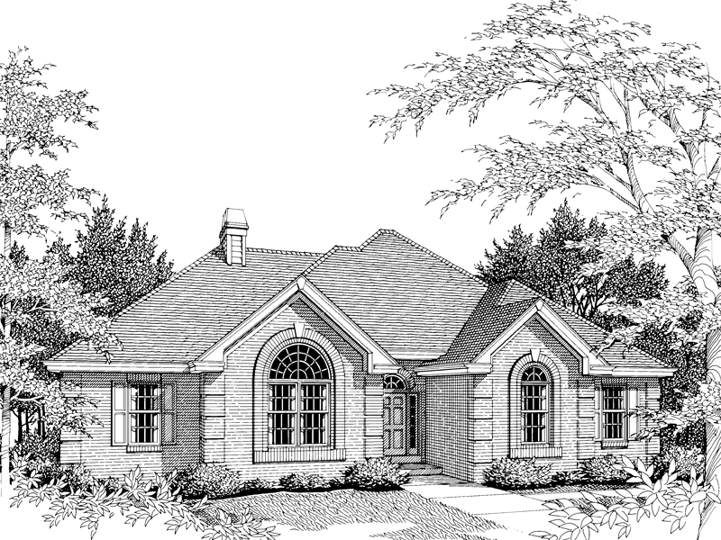 Ranch House Plan Front Image of House 007D-0017