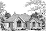 Country French House Plan Front Image of House - 007D-0017 | House Plans and More