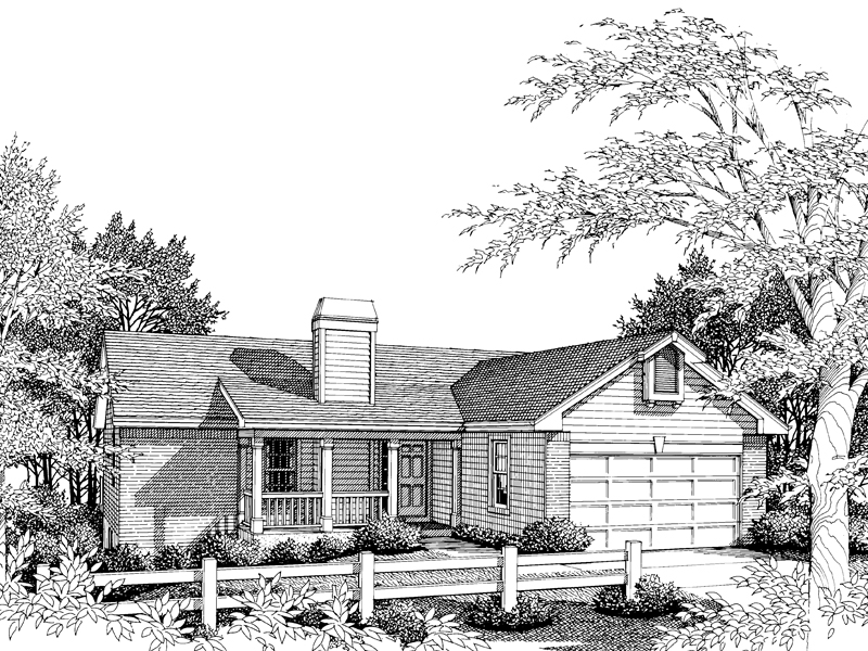 Ranch House Plan Front Image of House - 007D-0018 | House Plans and More