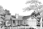 Cabin & Cottage House Plan Front Image of House - 007D-0018 | House Plans and More