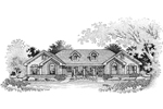 Ranch House Plan Front Image of House - 007D-0019 | House Plans and More