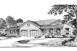 Ranch House Plan Front Image of House - 007D-0020 | House Plans and More
