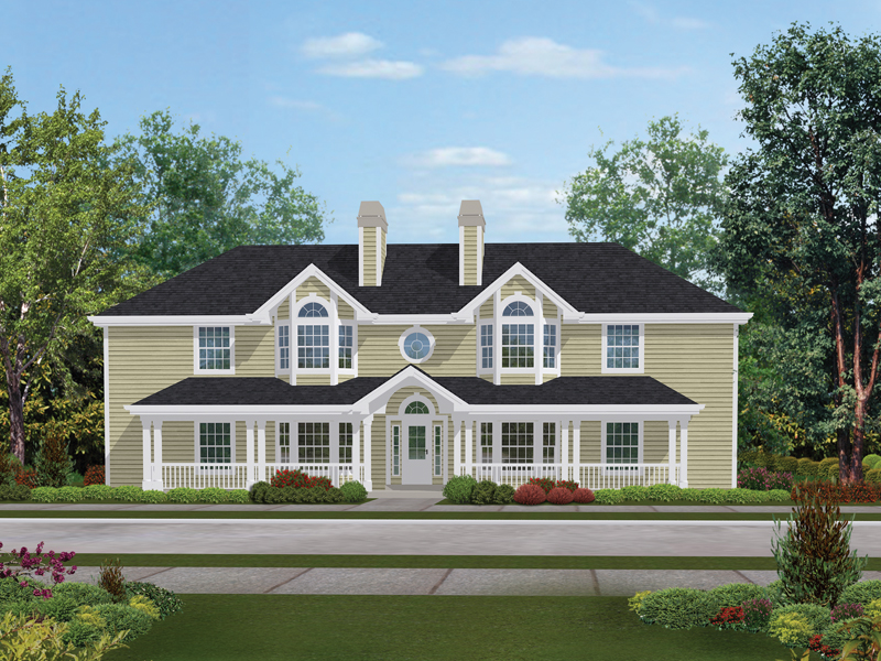 Country House Plan Front of Home 007D-0021