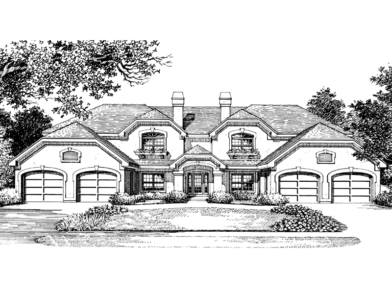 Multi-Family House Plan Front Image of House 007D-0022