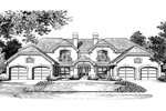 English Tudor House Plan Front Image of House - 007D-0022 | House Plans and More