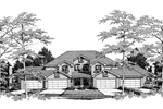 Multi-Family House Plan Front Image of House - 007D-0023 | House Plans and More