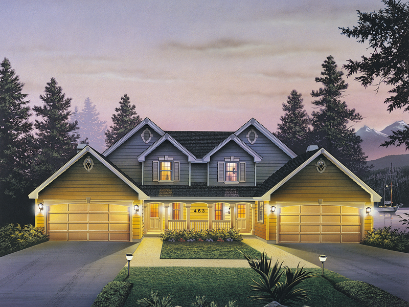 Traditional House Plan Front of Home 007D-0024
