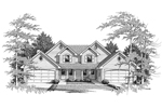 Traditional House Plan Front Image of House - 007D-0024 | House Plans and More