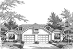 Tudor House Plan Front Image of House - 007D-0025 | House Plans and More