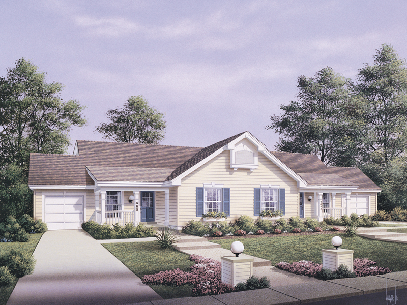 Traditional House Plan Front of Home 007D-0026