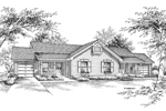 Country House Plan Front Image of House - 007D-0026 | House Plans and More