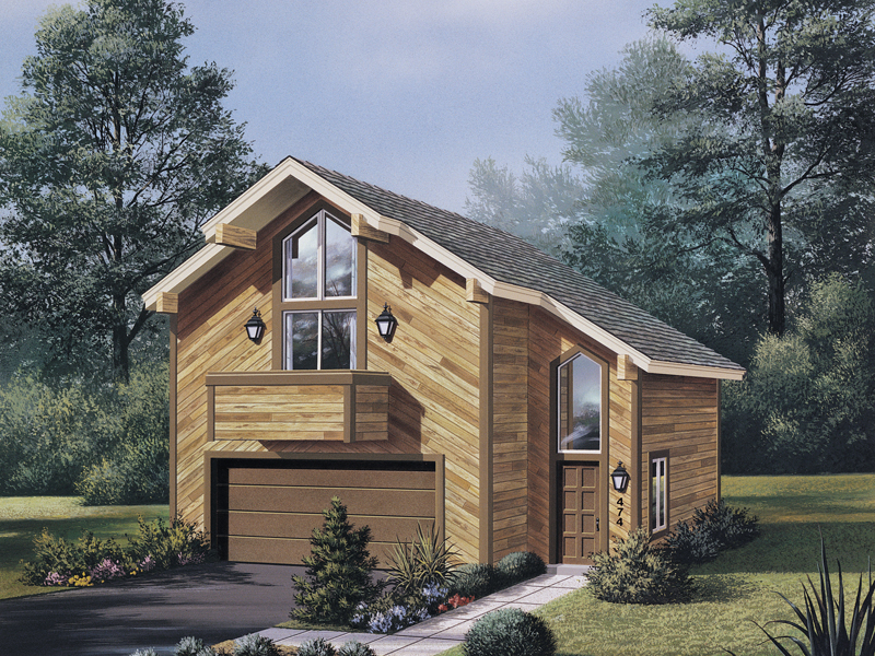 Rustic Home Plan Front of Home 007D-0027