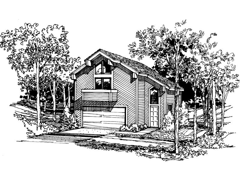 Mountain Home Plan Front Image of House - 007D-0027 | House Plans and More