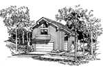Lake House Plan Front Image of House - 007D-0027 | House Plans and More