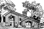 Contemporary House Plan Front Image of House - 007D-0028 | House Plans and More