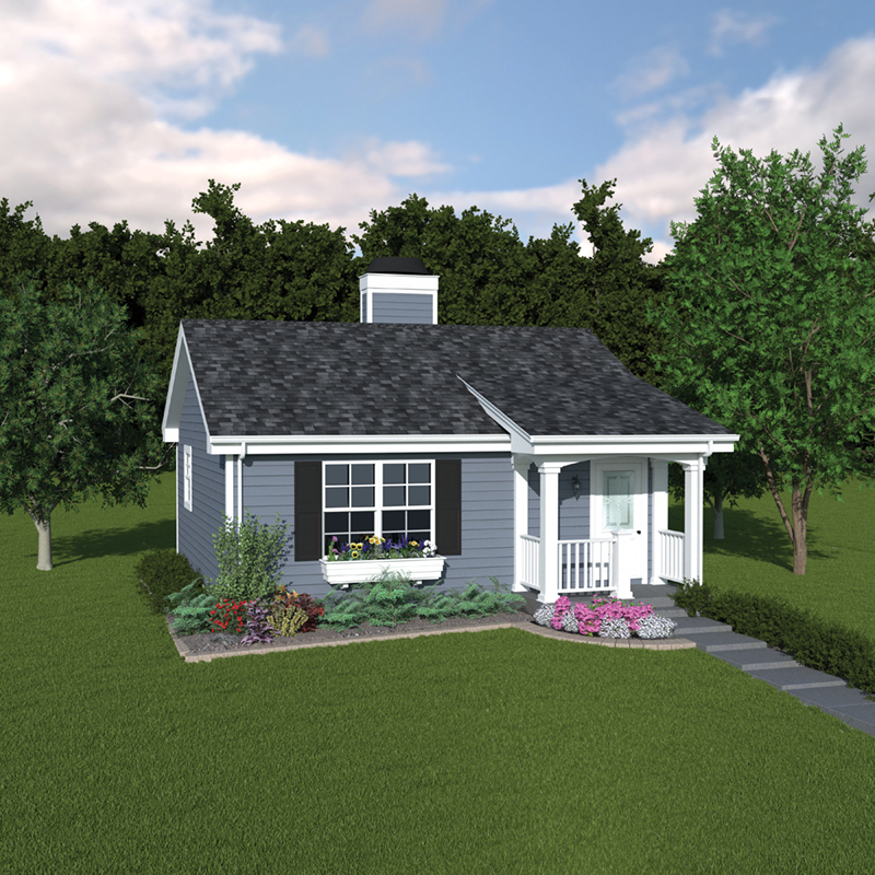 Vacation Home Plan Front of Home 007D-0029