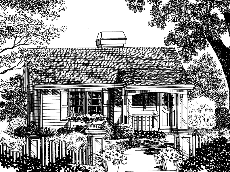 Vacation Home Plan Front Image of House - 007D-0029 | House Plans and More