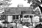 Cabin and Cottage Plan Front Image of House - 007D-0029 | House Plans and More