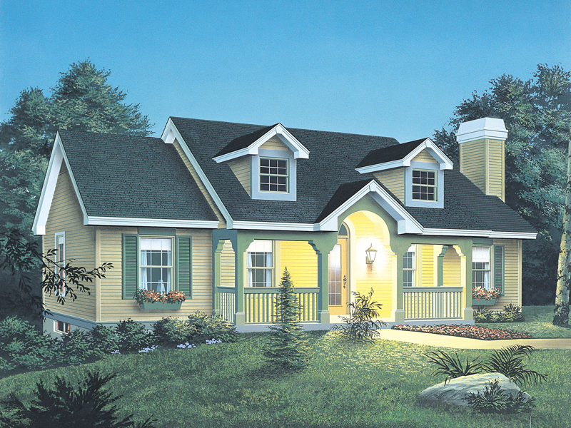Vacation Home Plan Front of Home 007D-0030