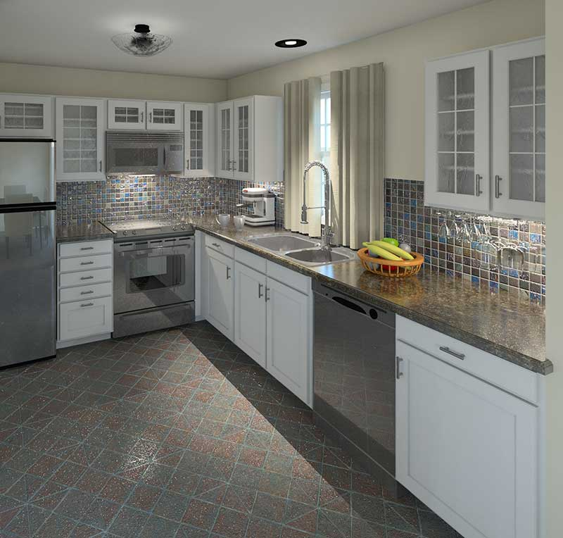 Cape Cod and New England Plan Kitchen Photo 01 007D-0030
