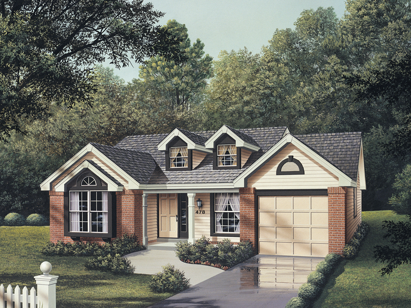 Vacation Home Plan Front of Home 007D-0031