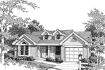 Tudor House Plan Front Image of House - 007D-0031 | House Plans and More