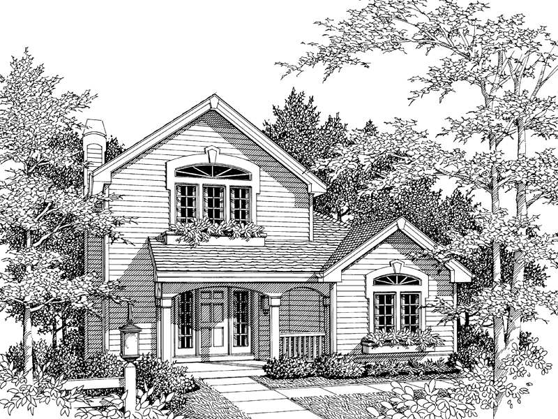 Country House Plan Front Image of House - 007D-0032 | House Plans and More