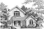 Cabin and Cottage Plan Front Image of House - 007D-0032 | House Plans and More