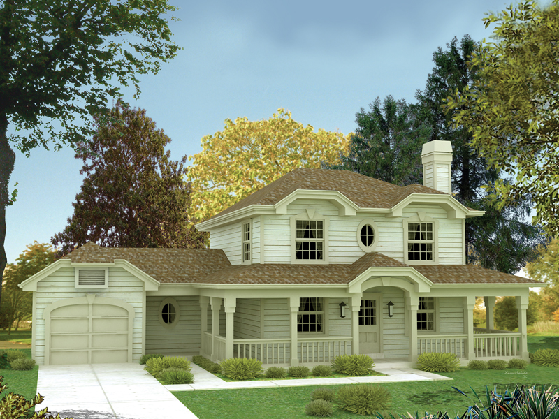 Traditional Hipped Roof Home With An Inviting Porch On All Sides