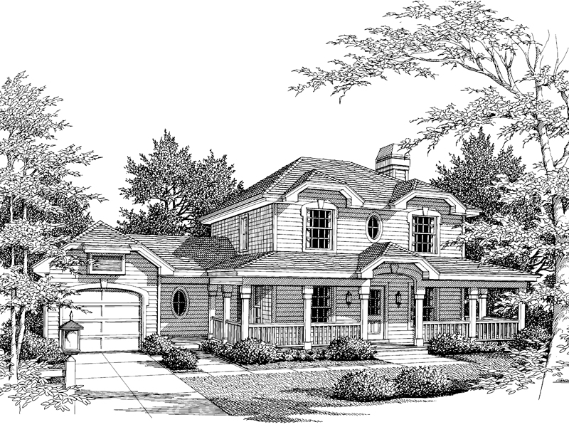 Southern House Plan Front Image of House - 007D-0033 | House Plans and More
