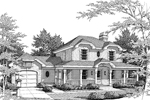 Craftsman House Plan Front Image of House - 007D-0033 | House Plans and More