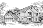 Traditional House Plan Front Image of House - 007D-0034 | House Plans and More