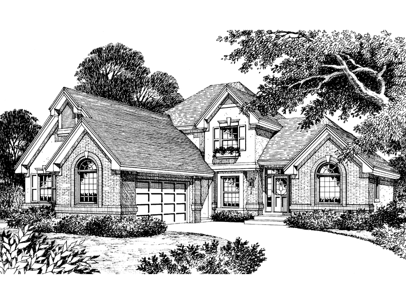 Country French Home Plan Front Image of House - 007D-0035 | House Plans and More