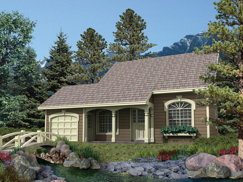 Cabin and Cottage Plan Front of Home 007D-0036