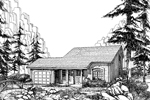 Cabin and Cottage Plan Front Image of House - 007D-0036 | House Plans and More