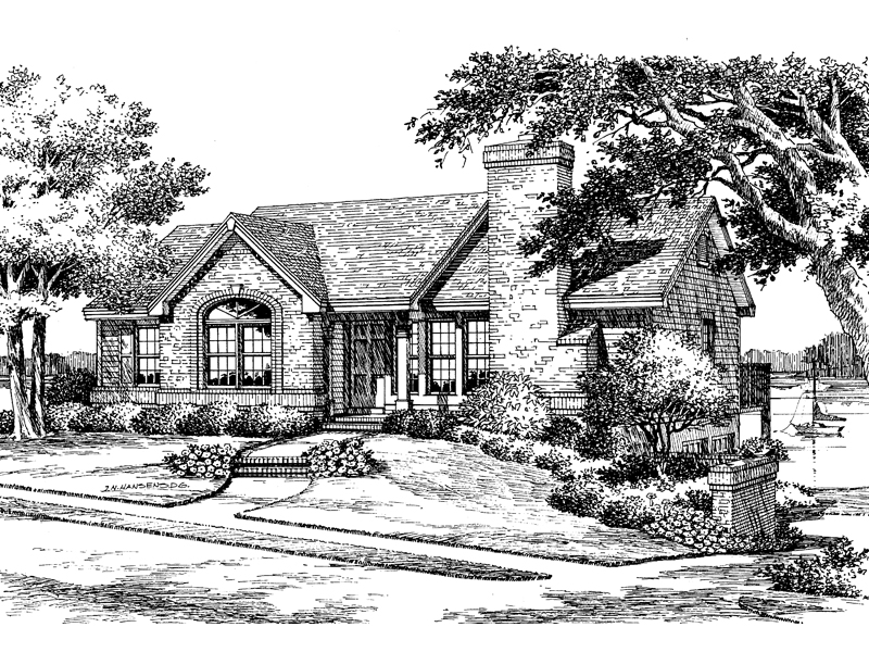 Ranch House Plan Front Image of House - 007D-0037 | House Plans and More