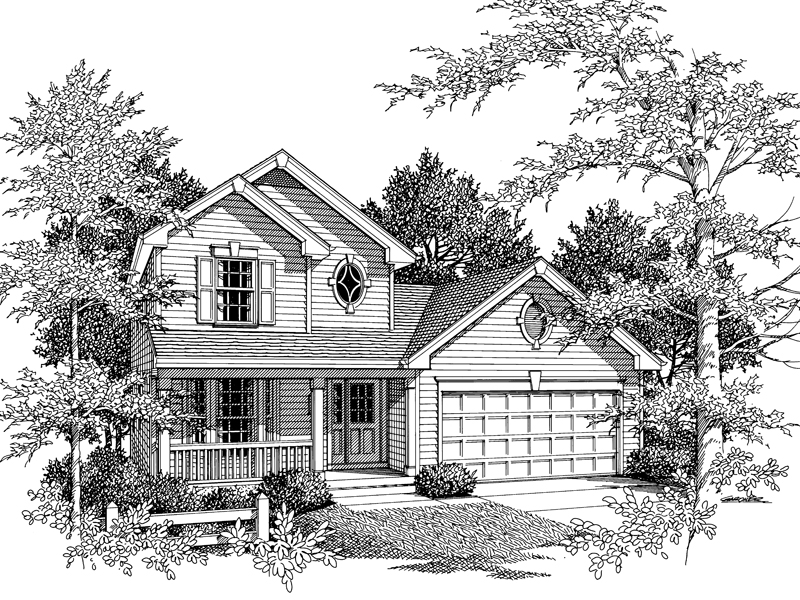 Country House Plan Front Image of House - 007D-0038 | House Plans and More