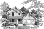 Neoclassical Home Plan Front Image of House - 007D-0038 | House Plans and More