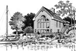 Waterfront Home Plan Rear Image of House - 007D-0039 | House Plans and More