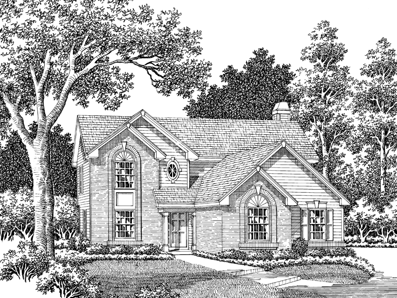 Traditional House Plan Front Image of House - 007D-0041 | House Plans and More
