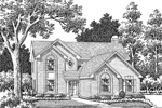 Rustic Home Plan Front Image of House - 007D-0041 | House Plans and More