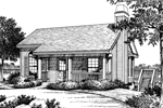 Waterfront House Plan Front Image of House - 007D-0042 | House Plans and More