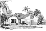 Sunbelt Home Plan Front Image of House - 007D-0044 | House Plans and More