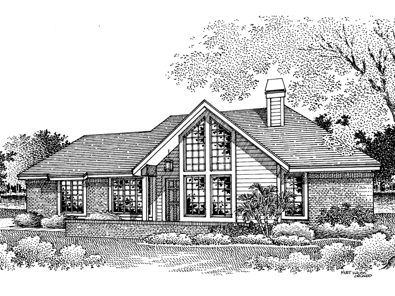 Ranch House Plan Front Image of House - 007D-0045 | House Plans and More