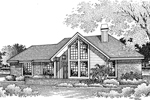 Contemporary House Plan Front Image of House - 007D-0045 | House Plans and More