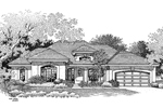 Florida House Plan Front Image of House - 007D-0046 | House Plans and More