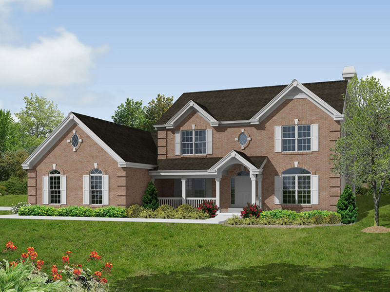 Early American House Plan Front Image 007D-0047
